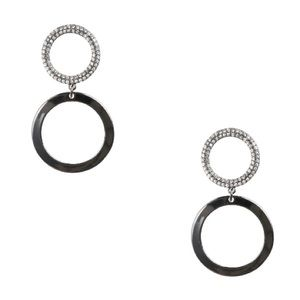 Towne & Reese Double Circle Drop Earrings: NWT
